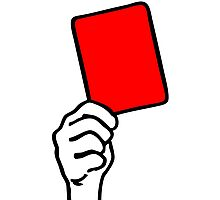 Foul - red card Photographic Print