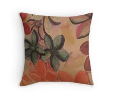 Social Plumerias Throw Pillow