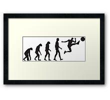 Evolution Football / Soccer Framed Print