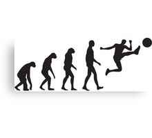 Evolution Football / Soccer Canvas Print
