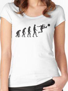 Evolution Football / Soccer Women's Fitted Scoop T-Shirt