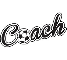 Football Soccer Coach Photographic Print