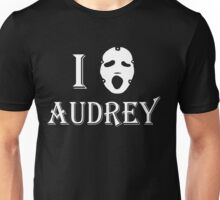 I love Audrey - White Unisex T-Shirt