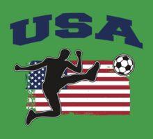 USA Football / Soccer One Piece - Short Sleeve