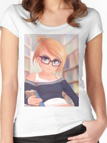 Library Girl Women's Fitted Scoop T-Shirt