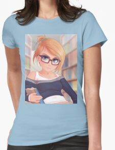 Library Girl Womens Fitted T-Shirt