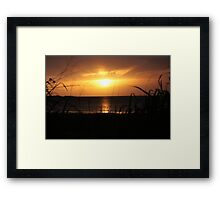 Weipa Sunset - Cape York Peninsula Framed Print
