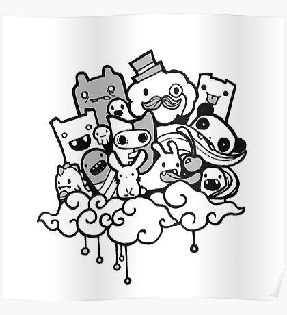 Random Doodle Characters! Poster
