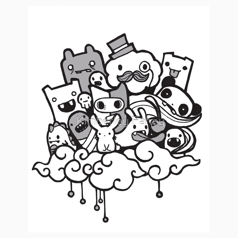 Random doodle characters one piece short sleeve by for Doodle characters