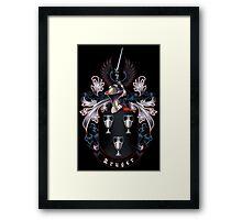 Kruger coat of arms (black background) Framed Print