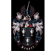 Kruger coat of arms (black background) Photographic Print