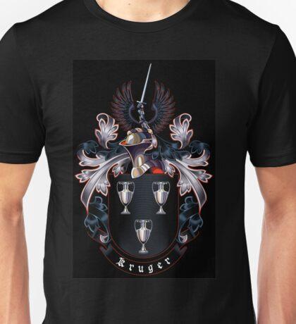 Kruger coat of arms (black background) Unisex T-Shirt