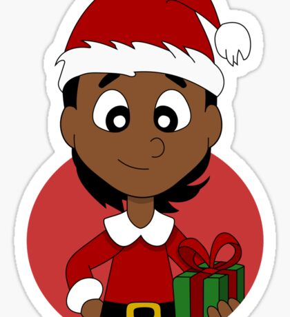 Christmas girl cartoon Sticker