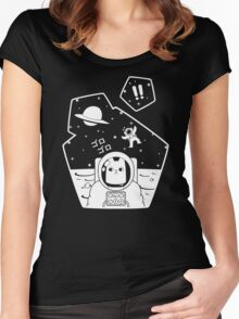 Oblivious Explorer of Space Women's Fitted Scoop T-Shirt