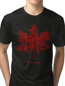 THE TRAGICALLY HIP - SUMMER TOUR 2016 - TYPOGRAPHY RED Tri-blend T-Shirt