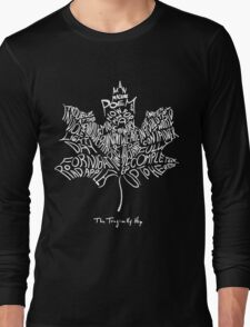 THE TRAGICALLY HIP - SUMMER TOUR 2016 - TYPOGRAPHY WHITE Long Sleeve T-Shirt
