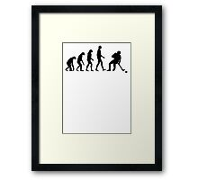 Evolution Hockey Framed Print