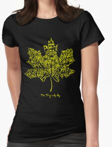 THE TRAGICALLY HIP - SUMMER TOUR 2016 - TYPOGRAPHY YELLOW Womens Fitted T-Shirt
