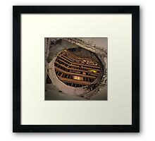 Russian concrete apartment block and portal Framed Print