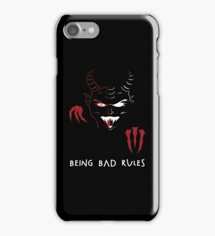 Being Bad Rules [BLACK] iPhone Case/Skin