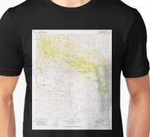 USGS TOPO Map Arizona AZ Dos Cabezas 311162 1978 24000 Unisex T-Shirt