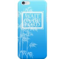 Wait On The Lord - Phone Case - Blue iPhone Case/Skin