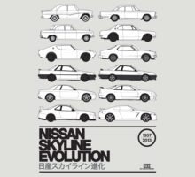 Nissan Skyline History by RexDesigns