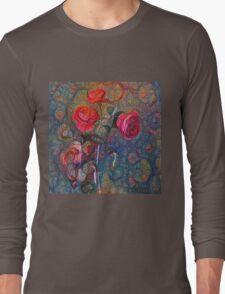 Roses #DeepDreamed Long Sleeve T-Shirt