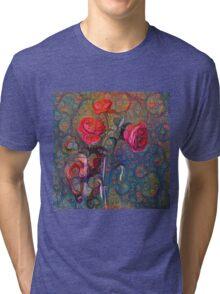 Roses #DeepDreamed Tri-blend T-Shirt
