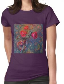 Roses #DeepDreamed Womens Fitted T-Shirt