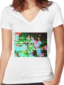 LSD definition of happiness Women's Fitted V-Neck T-Shirt