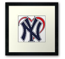 I love New York Yankees Framed Print