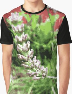 8-Bit Lavender Closeup Graphic T-Shirt