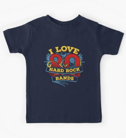 I love 80s Hard Rock Bands Kids Tee