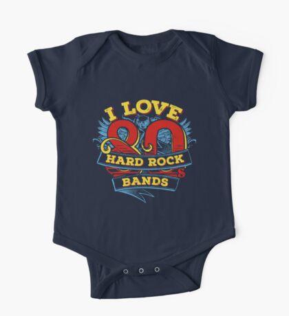 I love 80s Hard Rock Bands One Piece - Short Sleeve