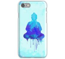 Blue Buddha watercolor illustration  iPhone Case/Skin