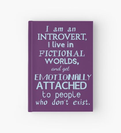 introvert, fictional worlds, fictional characters #2 Hardcover Journal