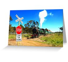 Lookout for Trains Greeting Card