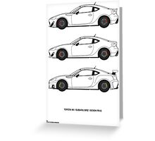 Subaru BRZ/Scion FR-S/Toyota 86  Greeting Card