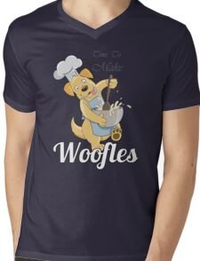 Time to make Woofles - Dog Chef Mens V-Neck T-Shirt