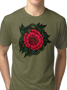 Peony rock Tri-blend T-Shirt