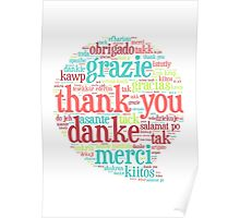Thank you bubble Poster