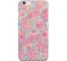 Moroccan Floral Lattice Arrangement - pink iPhone Case/Skin