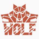 Wolf Pack Head Retro by patrimonio