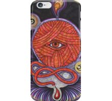 KNITCROMANCY: Unraveling the Cosmic Yarn iPhone Case/Skin