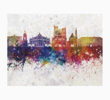 Amiens skyline in watercolor background Baby Tee