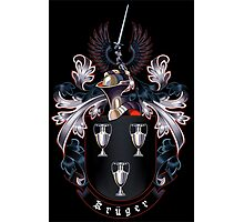 Krüger Coat of arms (black background) Photographic Print