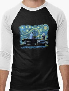 supernatural starry night sam dean winchesters  baby j2 Men's Baseball ¾ T-Shirt