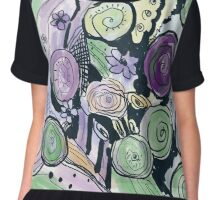 abstract violett composition Chiffon Top
