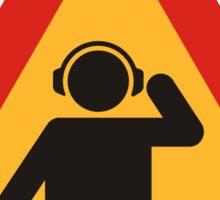Danger DJs at Work Sticker